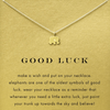 Necklace Elephant Luck Gold Dipped - MUSEAE