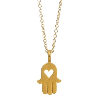 Necklace Hamsa Hand Gold Dipped - MUSEAE