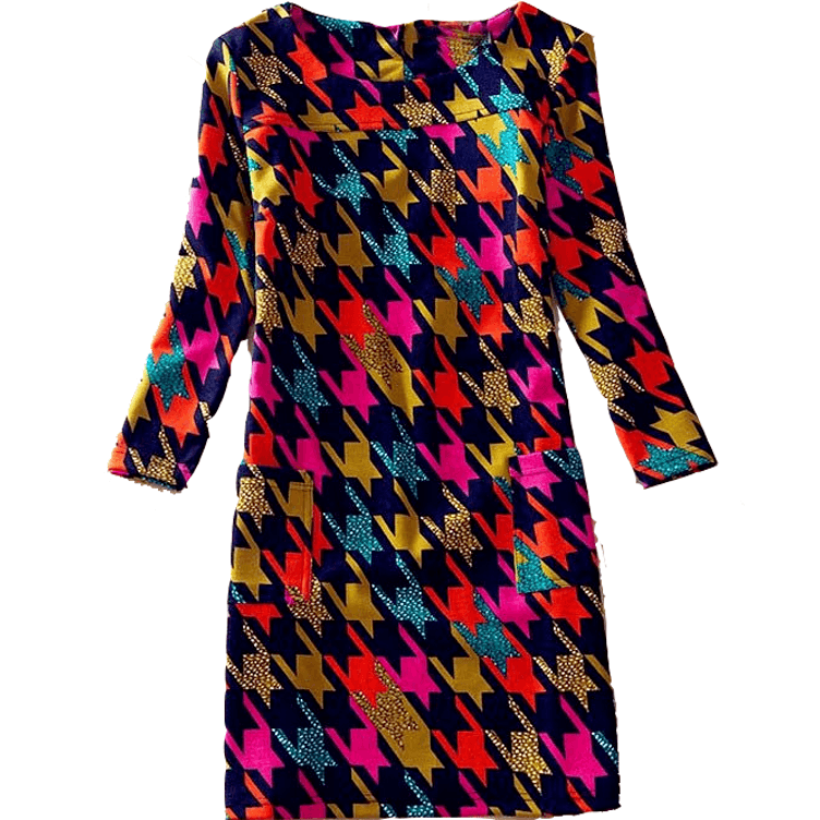 Dress Long Sleeves Jennifer Plaid - MUSEAE