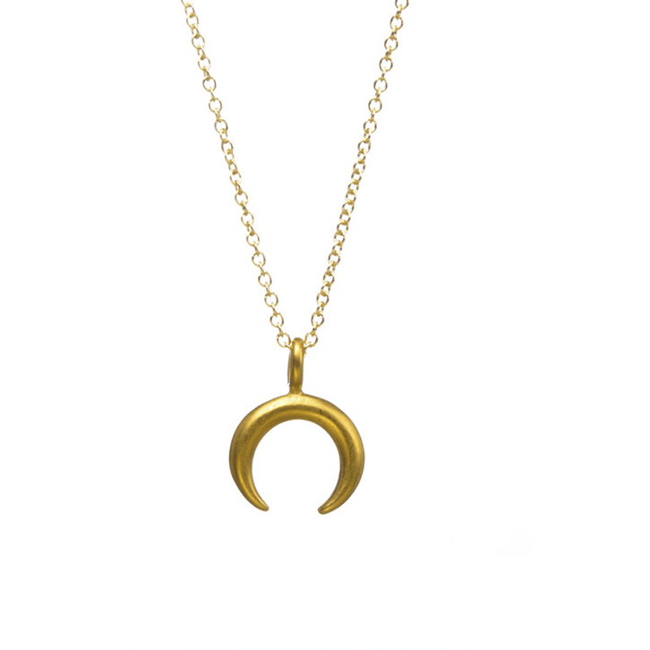 Necklace Crescent Imagination Gold Dipped - MUSEAE