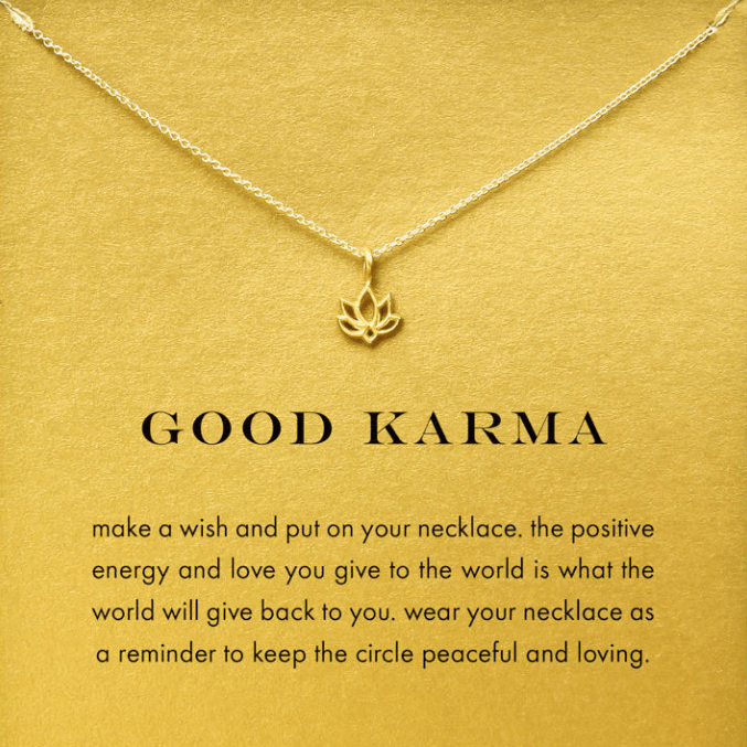 Necklace Lotus Karma Gold Dipped - MUSEAE