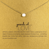 Necklace Love Pearl Gold Dipped - MUSEAE