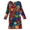 Dress Long Sleeves Sun Flower - MUSEAE