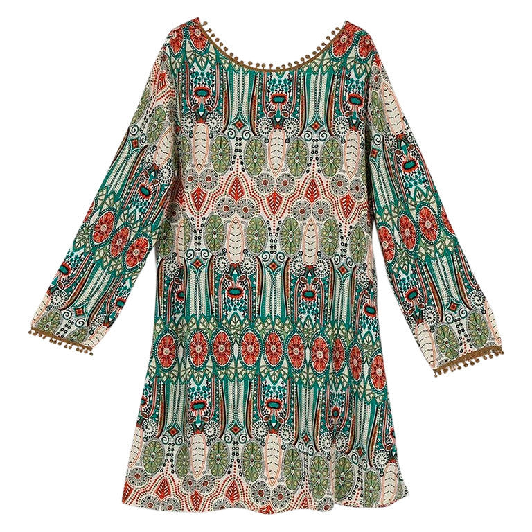 Tunic Long Sleeves Ethnic - MUSEAE