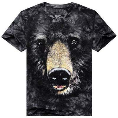 T-Shirts Shirt Men 3D Bear - MUSEAE