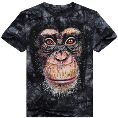 T-Shirts Shirt Men 3D Happy Monkey - MUSEAE