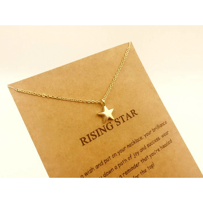 Necklace Rising Star Gold Dipped - MUSEAE