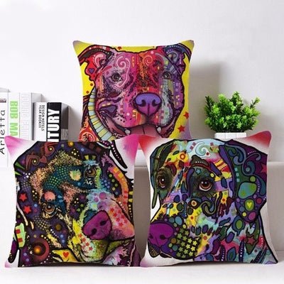 Throw Pillow Cover - Dog Throw Pillow Cover