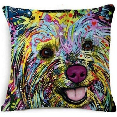 Throw Pillow Cover - Yorkshire Terrier Pillow Cover