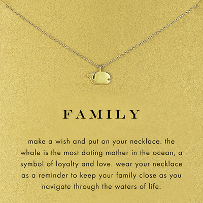 Necklace Family Whale Gold Dipped - MUSEAE