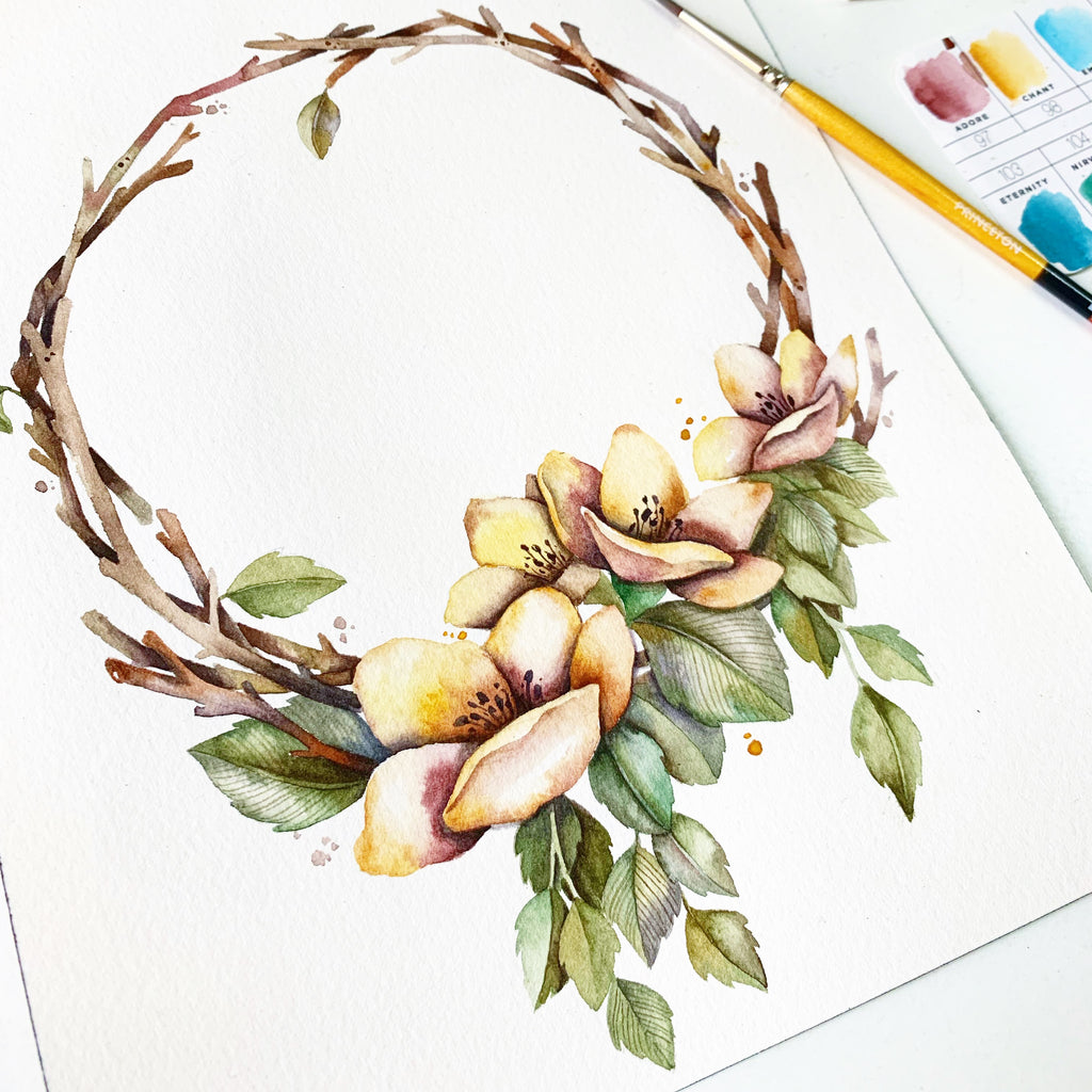 November Treats // Whimsical Florals & Twigs with Wei Tieng