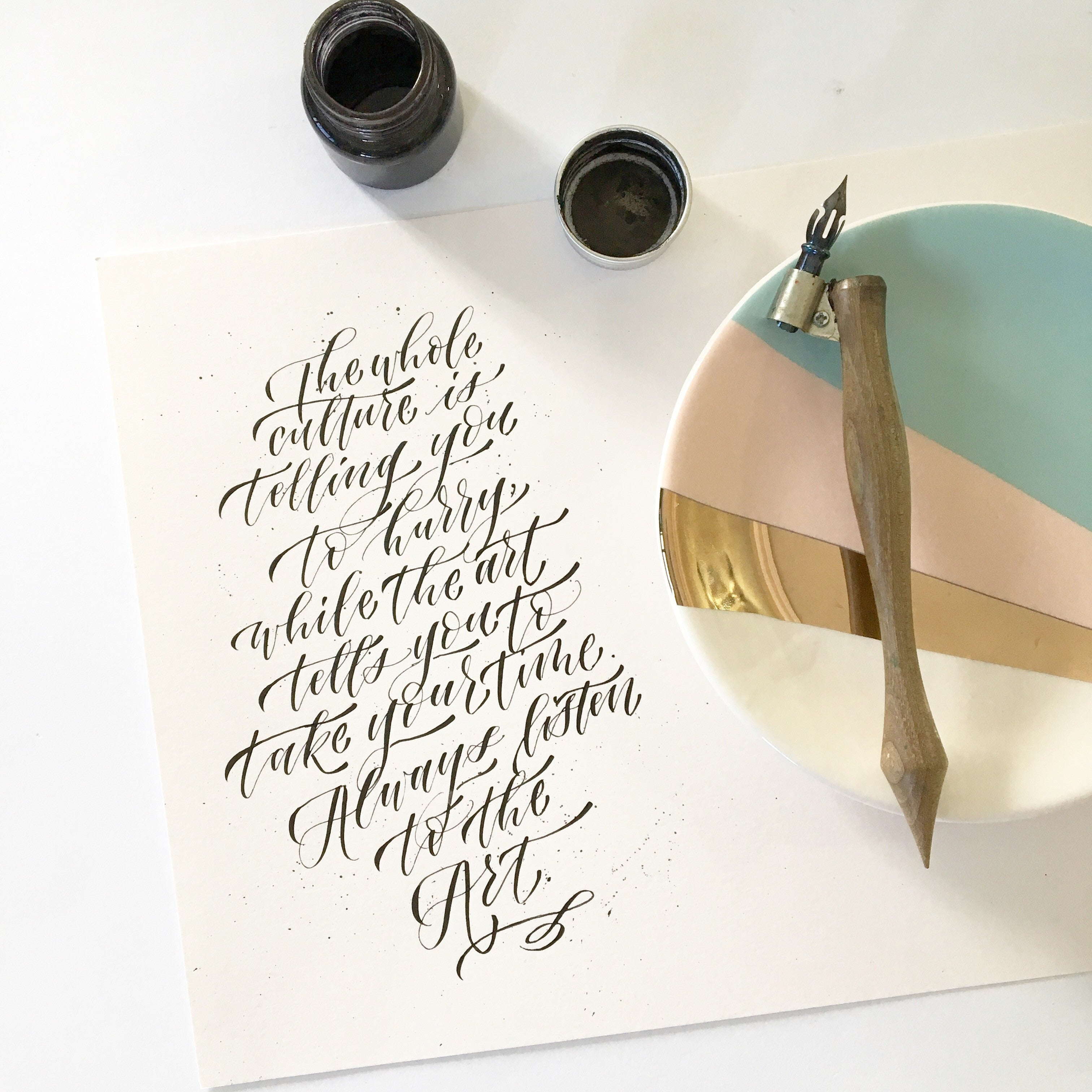 Modern Calligraphy: Pointed Pen Basics