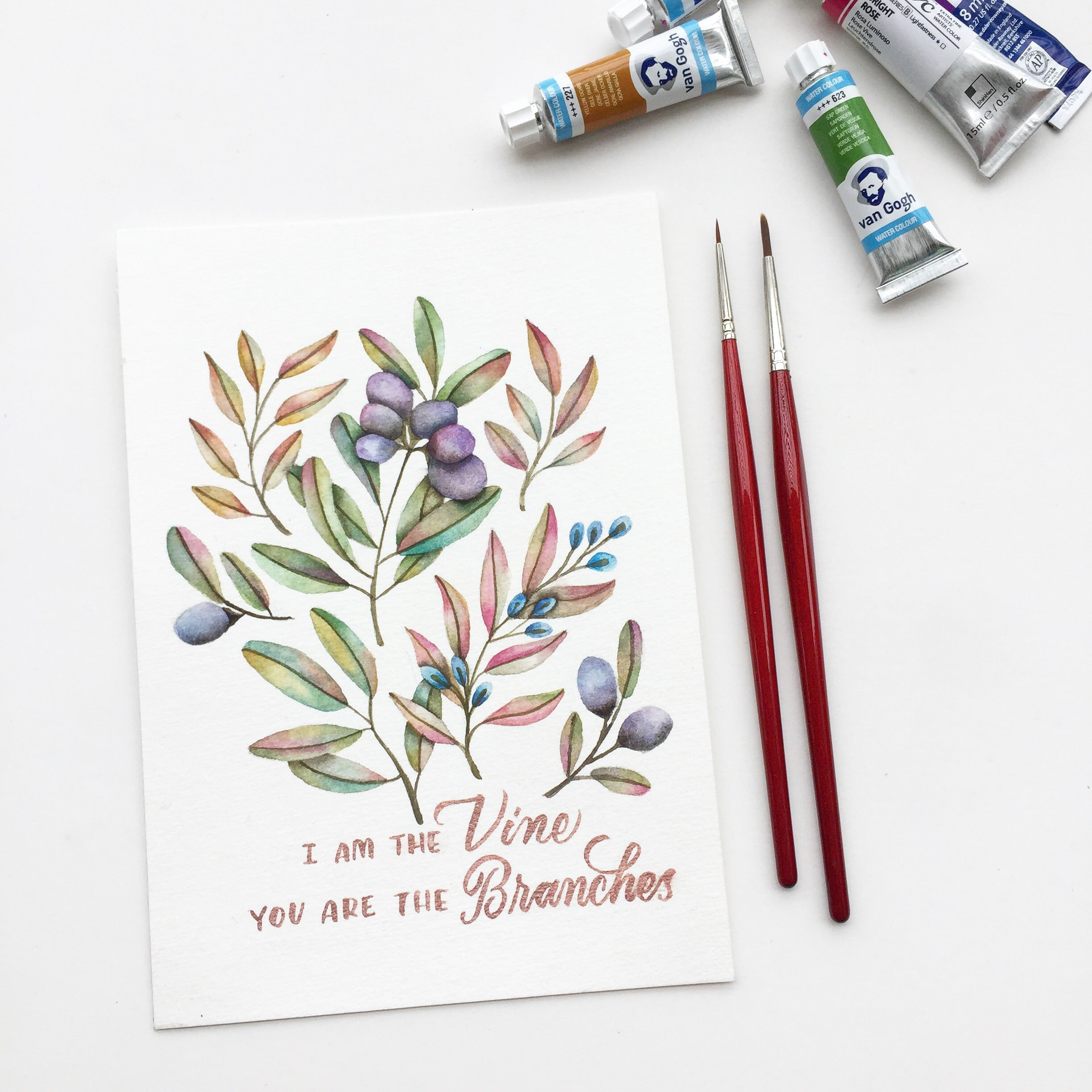 Wildflowers + Foliage: Modern Botanical Illustrations for Calligraphy