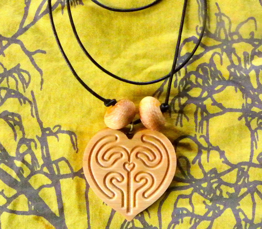 Sacred Union labyrinth pendant