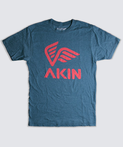 T-Shirt - Blue with Red Logo