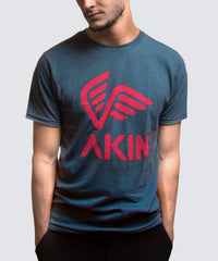 Blue T-Shirt - AKIN Logo