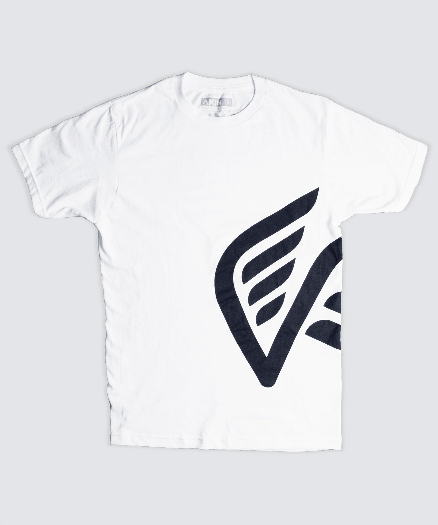 T-Shirt - White with Black Oversized Logo