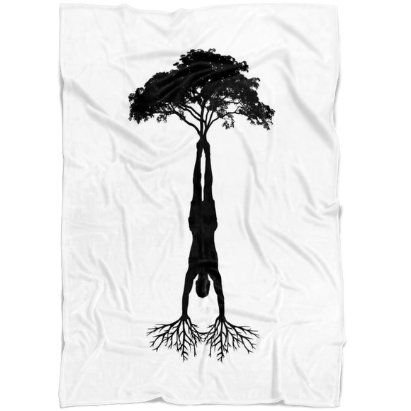 HandStand Tree Fleece Blanket