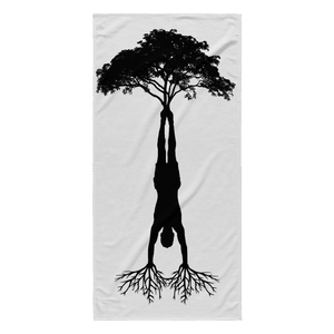HandStand Tree Beach Towel