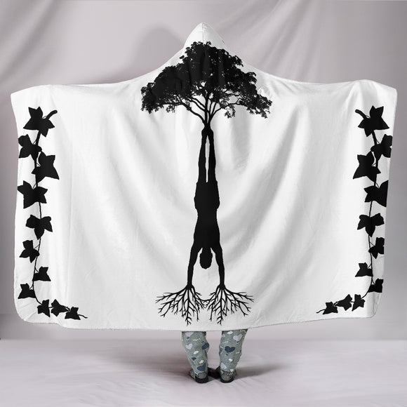 HandStand Tree Hooded Blanket