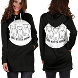 Not Kitten' Around Hoodie Dress - Black