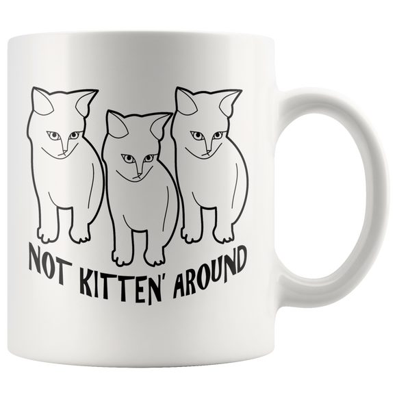 Not Kitten' Around Coffee Mug