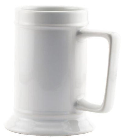 White 16oz Stein ceramic
