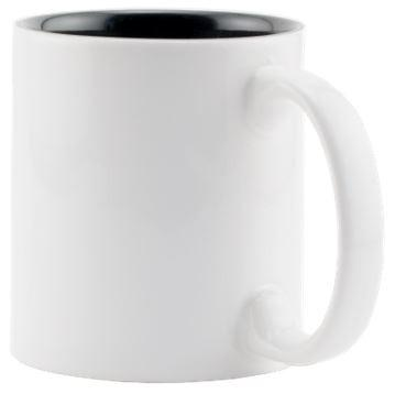 White/Black 11oz Two Tone Mug Ceramic Coffee Mug