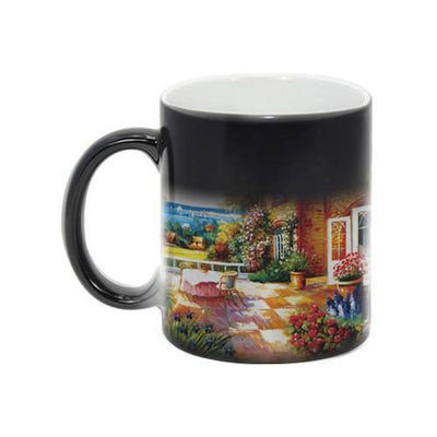 Color-Changing 11oz Ceramic Mug -- Black