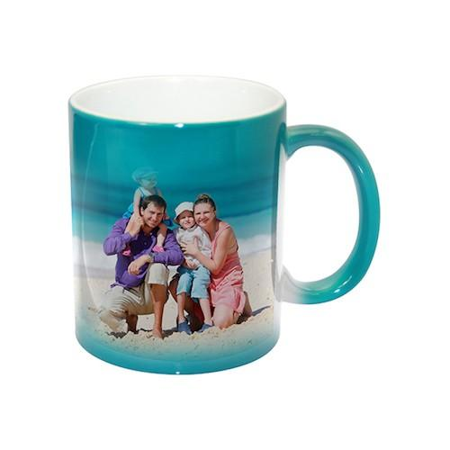 Color-Changing 11oz Ceramic Mug -- Green