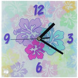 "8"" X 8"" Square Glass Clock"
