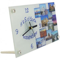 "12"" X 6"" Smooth Glass Clock"