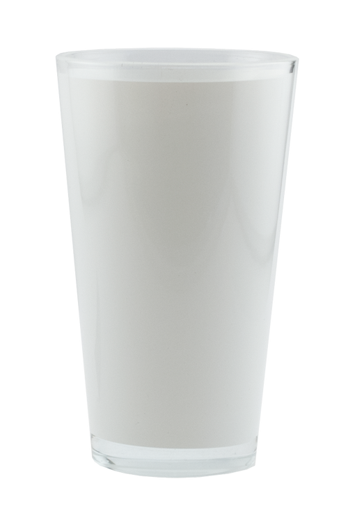 Clear 16oz Pint Glass with White Wrap