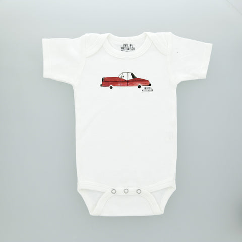 Red Cadillac Car Bodysuit