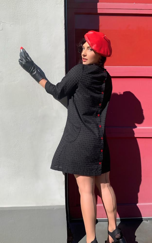 The Bar Maid Dress, The Groupie T, Le Black Beret