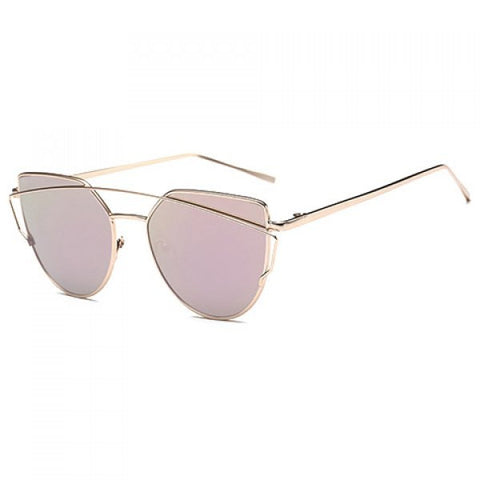 Pink Chic Metal Sunglasses