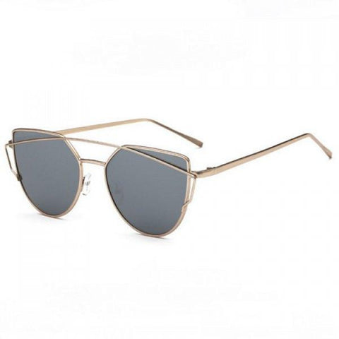 Silver Chic Metal Sunglasses