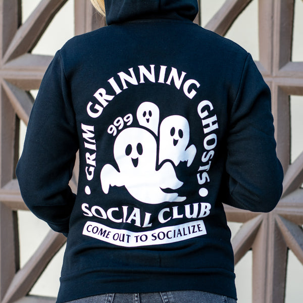 Grim Grinning Ghosts Zip-Up Hoodie