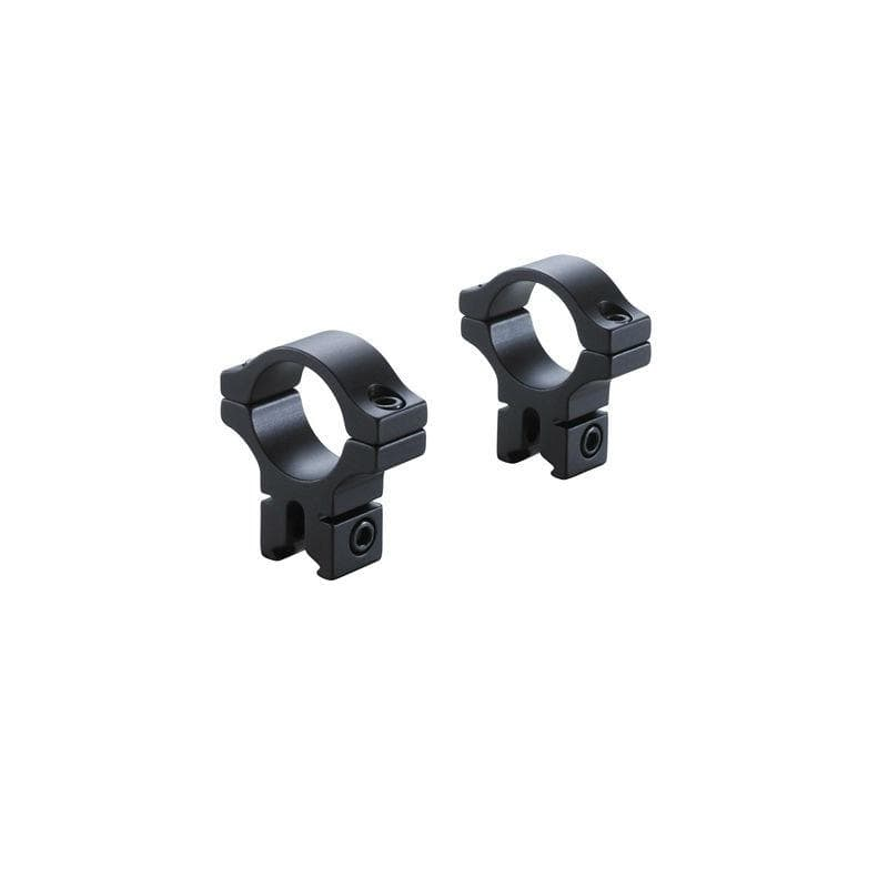 BKL Technologies BKL-257 1inch Dovetail Rings - Medium, Black