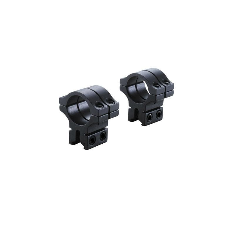 BKL Technologies BKL-263 1inch Double Strap Dovetail Rings - Medium, black