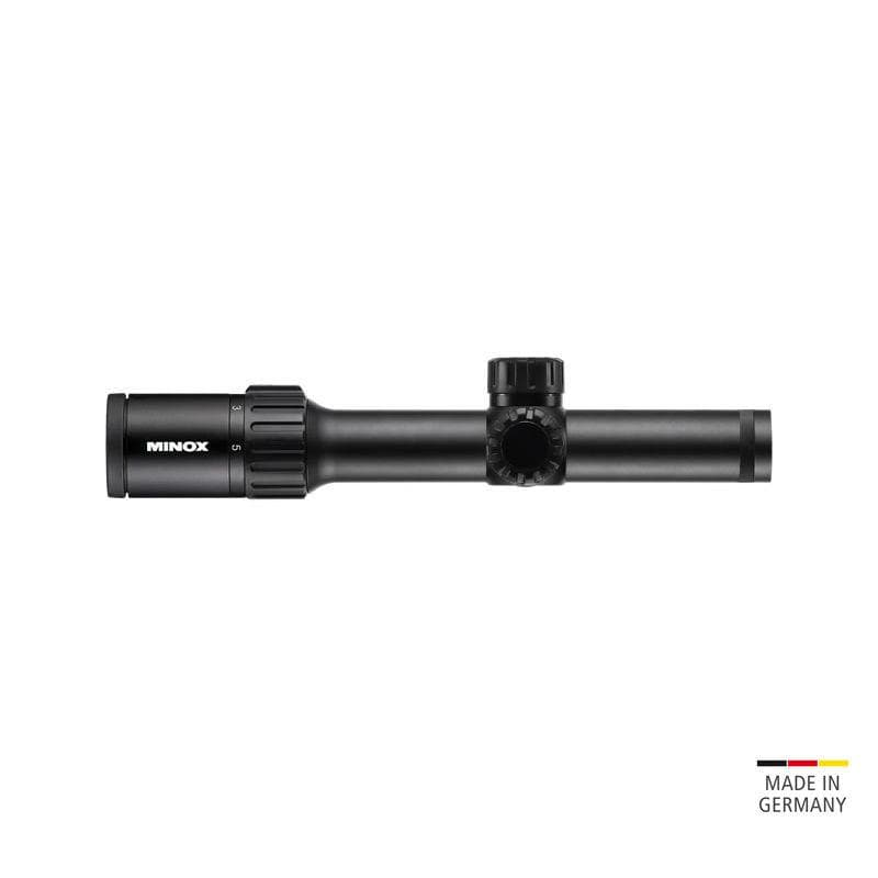 Minox ZX5 1-5x24 Riflescope with Illuminated Plex or German #4 Reticle