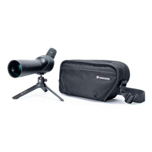 Vanguard Vesta 350 12-45x50 Spotting Scope - Angled with tripod