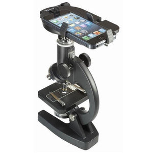 Vixen Smartphone Universal Digiscoping Adapter on microscope