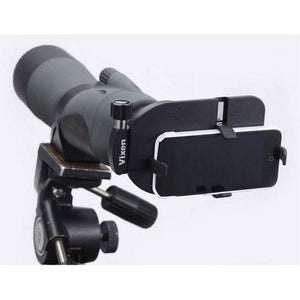 Vixen Smartphone Universal Digiscoping Adapter on spotting scope
