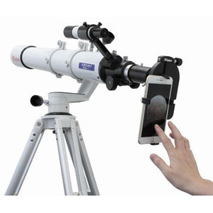 Vixen Smartphone Universal Digiscoping Adapter on telescope