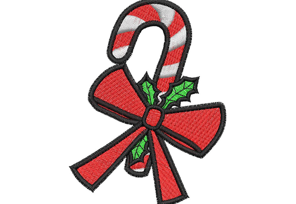 Candy Cane Embroidery Design - Embroidstock