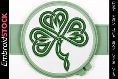 Abstract Clover Embroidery Design - Embroidstock