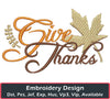 Image of Give Thanks Embroidery Design - Embroidstock