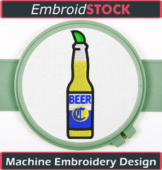 Beer with Lime Embroidery Design - Embroidstock