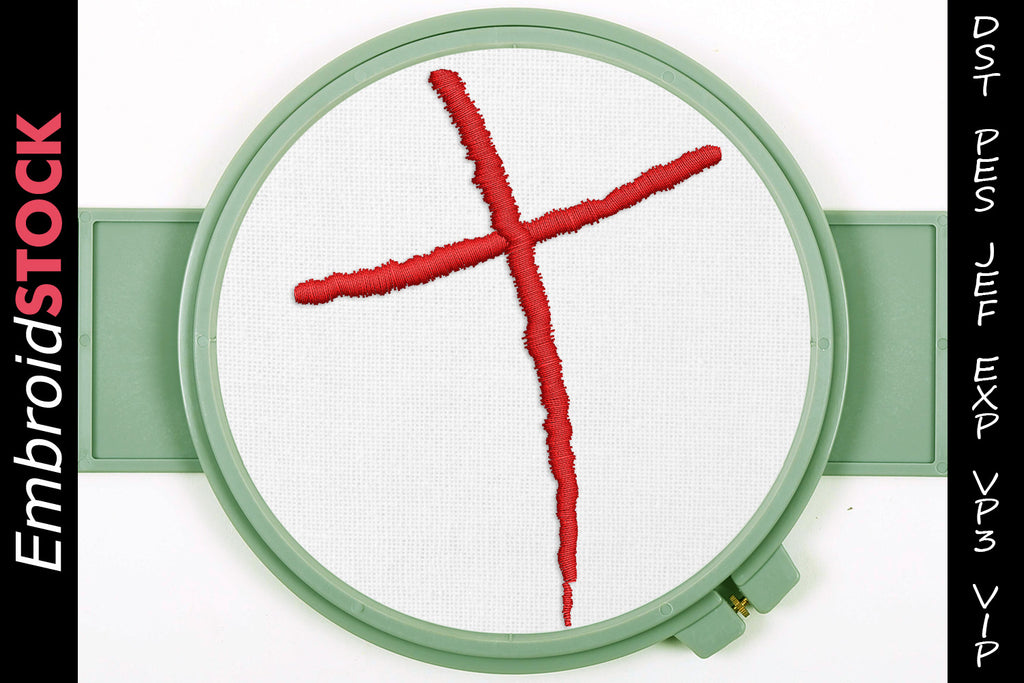 Christian Cross Embroidery Design - Embroidstock